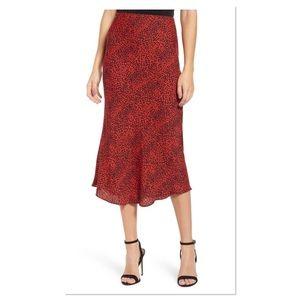 AFRM Brynne Print Midi Skirt (C)
